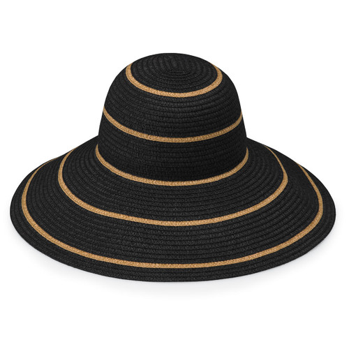 Womens Wallaroo Savannah UPF50+ Sun Hat black-camel