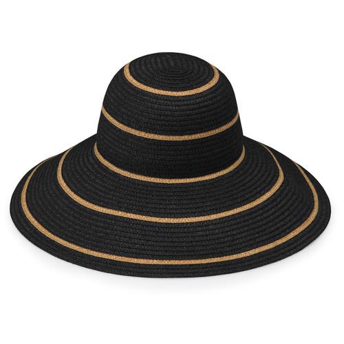 Womens Wallaroo Savannah UPF50+ Sun Hat black-camel