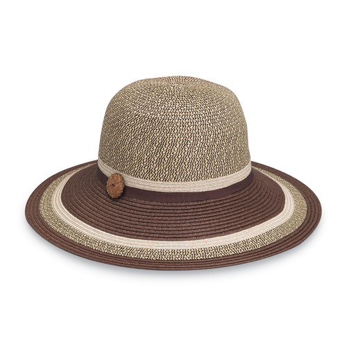 Womens Wallaroo Nola SPF50+ Sun Hat brown combo