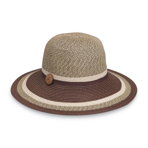 Womens Wallaroo Nola SPF50+ Sun Hat brown combo