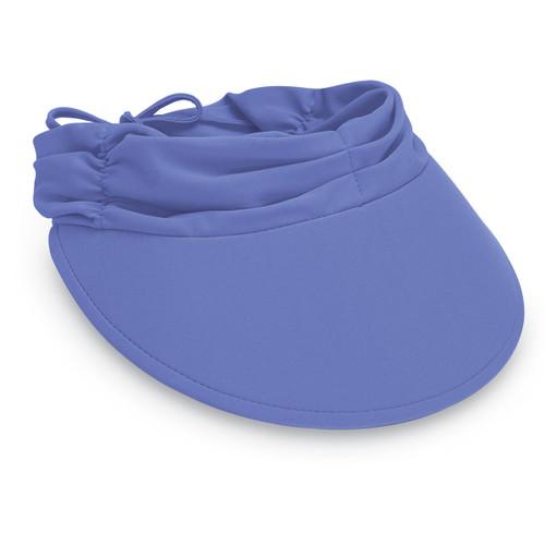Womens Wallaroo aqua visor cap hydrangea