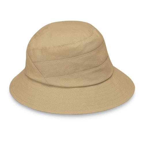 Womens Wallaroo Taylor UPF50+ golf hat tan