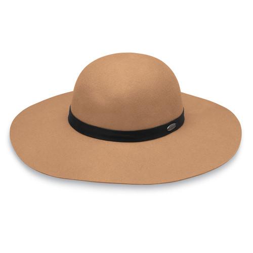 Womans wallaroo UPF50+ elsbeth felt sun hat camel