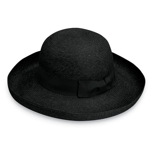 Womens Wallaroo Georgia UPF50+ Sun hat black