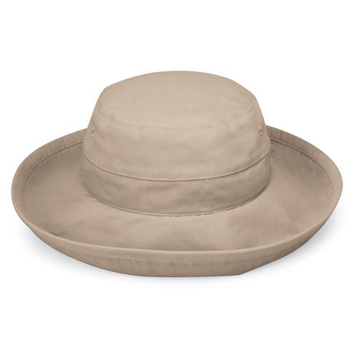 Womens Wallaroo Casual Traveler UPF50+ sun hat camel