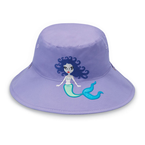 Girls Wallaroo UPF50+ Mermaid bucket sun hat