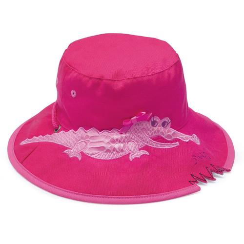 Wallaroo girls UPF50+ crocodile sun bucket hat