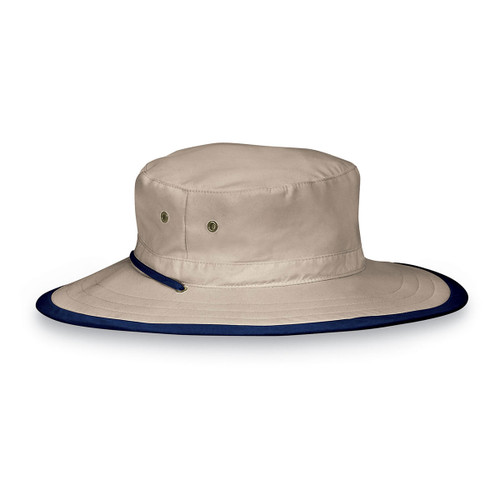 Wallaroo junior explorer upf50+ sun hat camel-navy