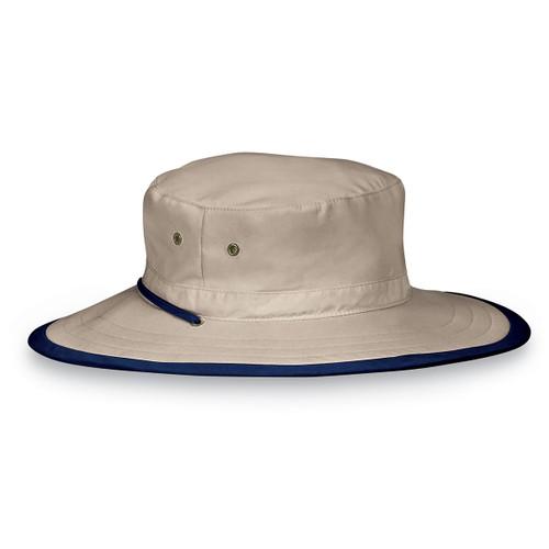 Mens Wallaroo UPF50+ explorer sun hats camel navy