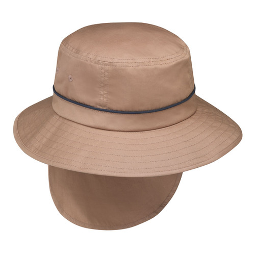 Mens Wallaroo Shelton UPF50 sun hat camel/navy