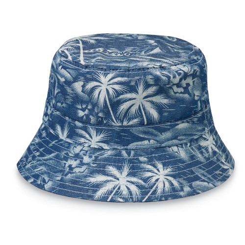 Wallaroo baby aloha upf50 sun hat denim