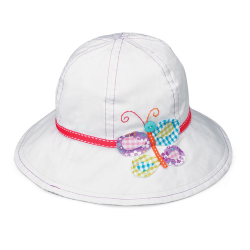 Wallaroo Sophia UPF50+ girls hat butterfly
