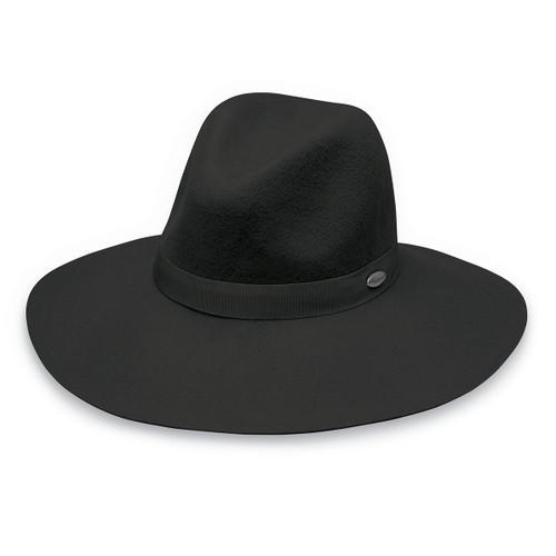 Womens Wallaroo Catriona UPF50+ Sun Hat black