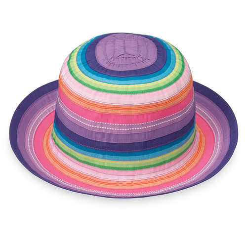 Wallaroo Petite Nantucket girls UPF50+ Sun hat rainbow