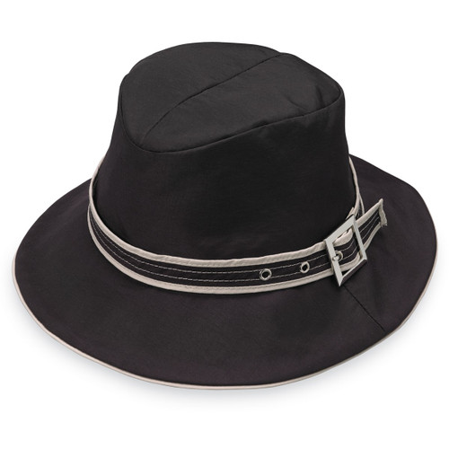 Womens Wallaroo cascade UPF50 water resistant hat black