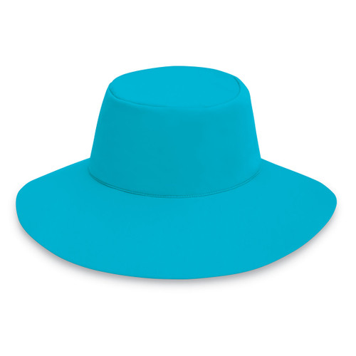 Womens Wallaroo UPF50+ aqua hat turquoise