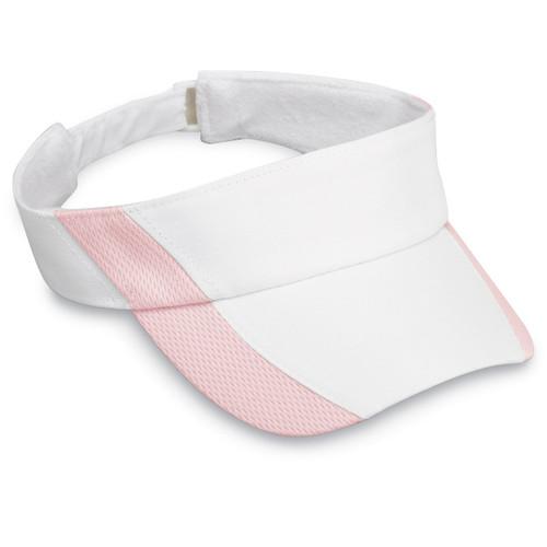 Womens wallaroo sports visor white pink