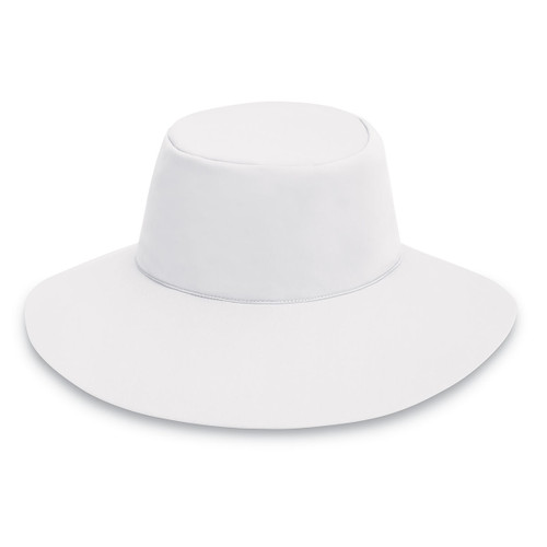Womens wallaroo aqua hat with chin strap white