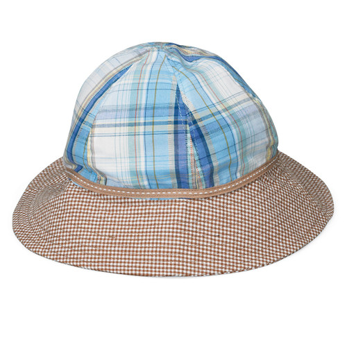 Wallaroo baby and toddler platypus UPF sun hat blue plaid