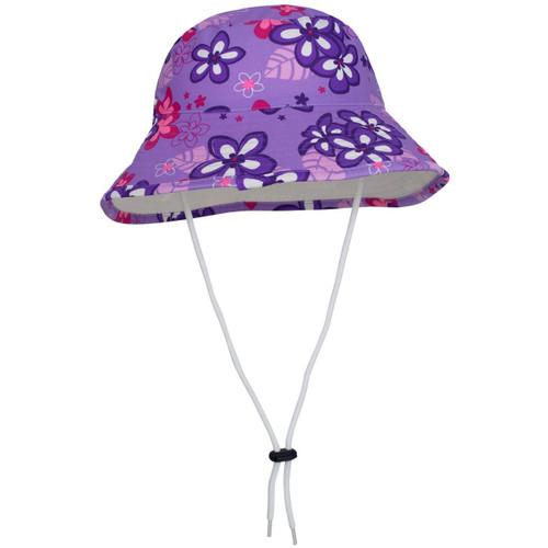 Girls Tuga reversible UV bucket hat violet