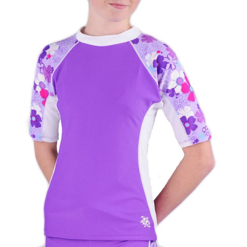 Girls Tuga UV Seaside short sleeve swim shirt orchid