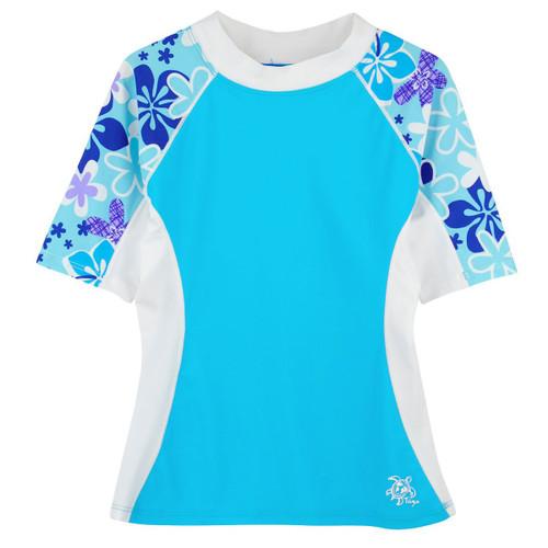 Girls Tuga seaside UV swim shirt turquesa