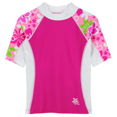 Girls Tuga UV seaside short sleeve swim shirt