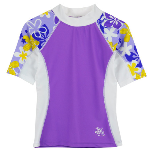 Girls Tuga UV short sleeve swim shirt morado