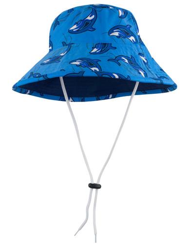 Sun Busters UV reversible bucket hat sky orca