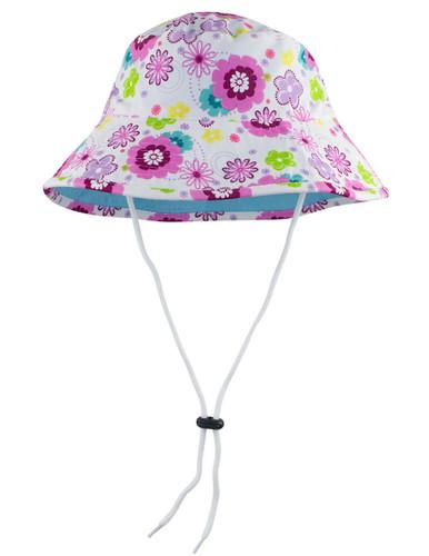 Sun busters Girls UV reversible bucket hat mallowberry