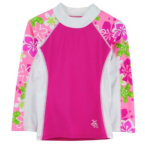 Girls Tuga UV Long sleeve swim shirt rosita