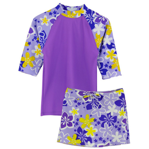 Tuga girls UV Swim set Tropical Breeze morado