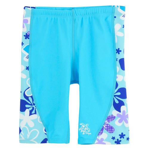 Girls Tuga UV Swim jammer shorts turquesa