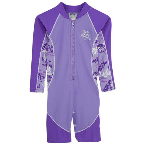 Girls Tuga long sleeve high tide swimsuit amethyst