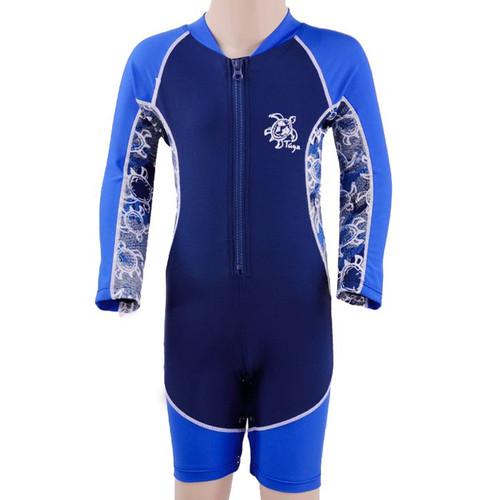 Baby boys long sleeve UV high tide swimsuit lapis