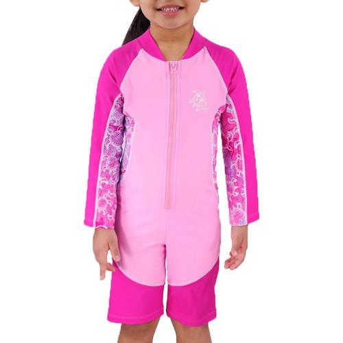 Tuga girls UV long sleeve swim suit ruby
