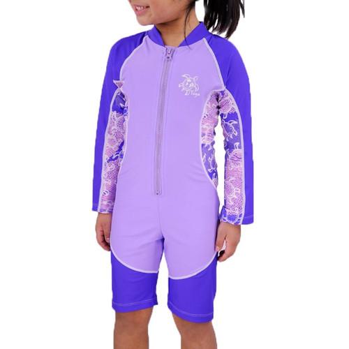 Girls tuga UV swimsuit long sleeve lilac