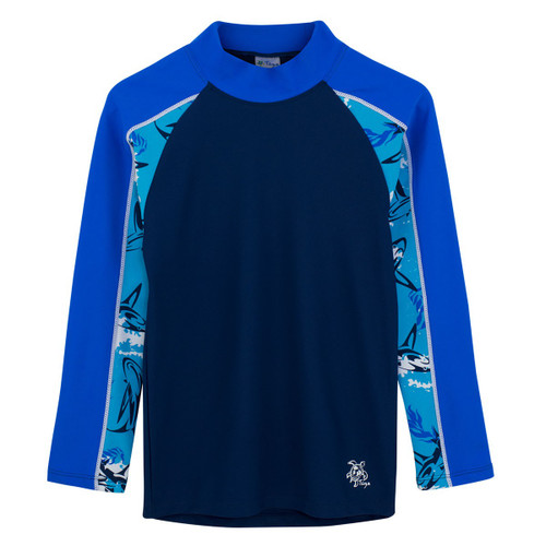 Biys tugs tube long sleeve rash guard laguna blue