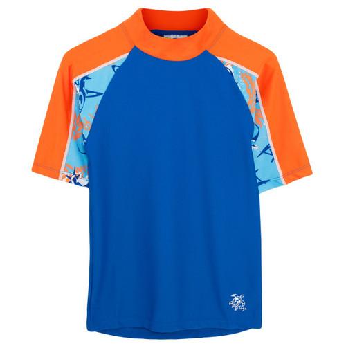 Boys Tuga short sleeve UV swim shirt rashvest fuego