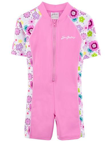 Girls Sun Busters UV swim suit 1-piece poppyberry