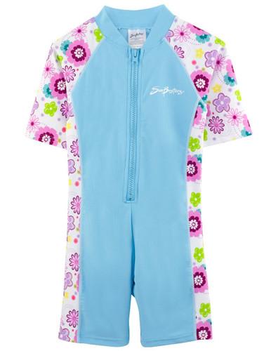 Girls Sun Busters UV 1-piece swimsuit mallowberry