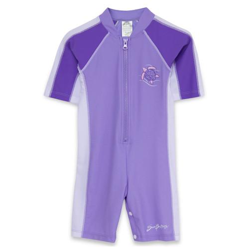 Girls Sun Busters Short Sleeve UV swimsuit grape_blackberry