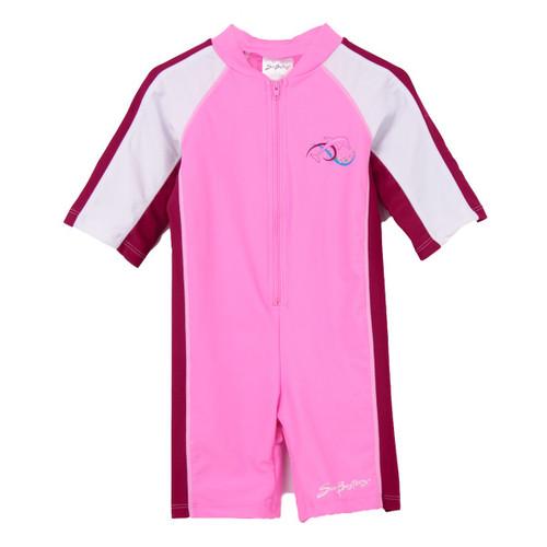 baby Girls Sun Busters Short Sleeve UV swimsuit