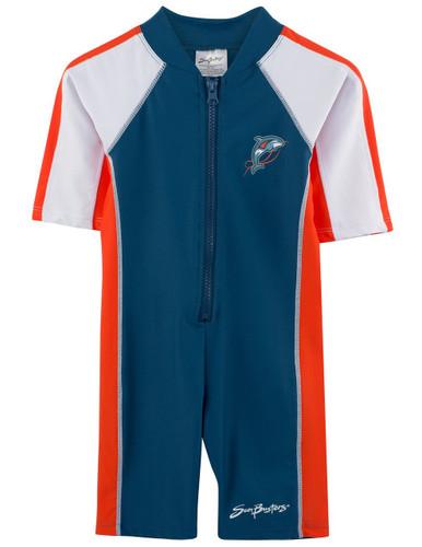 Boys short sleeve UV 1-piece swim suit