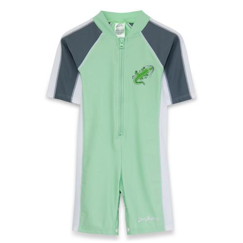 Boys SUn busters short sleeve uv 1-piece swim suit frost ice