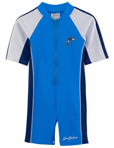 Boys Sun Busters UV 1-piece swim suit splash