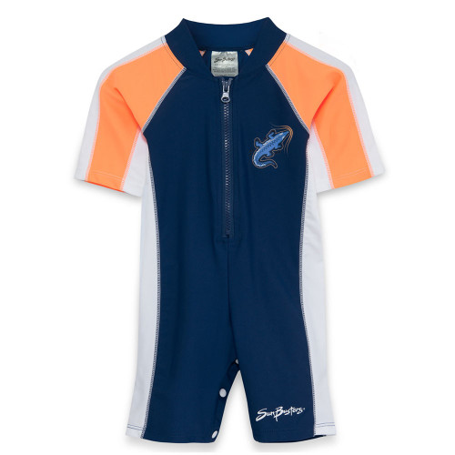 Boys Sun Busters uv 1-piece swimsuit rain-fire