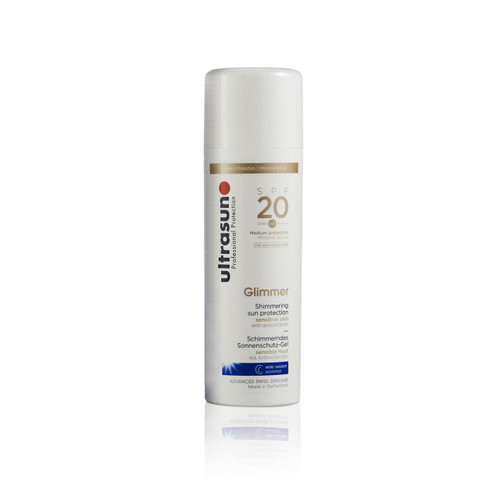Ultrasun SPF20 glimmer 150ml sun protection lotion