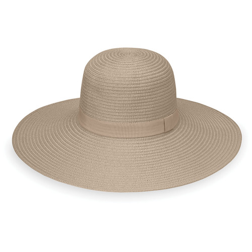Womens Wallaroo Aria UV Sun hat taupe