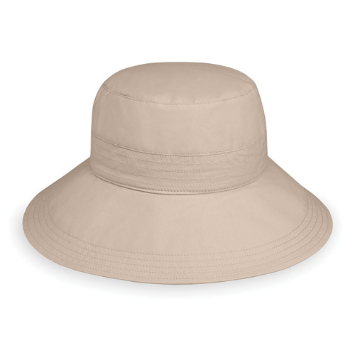 Womens Wallaroo Piper sun hat UPF50+ beige